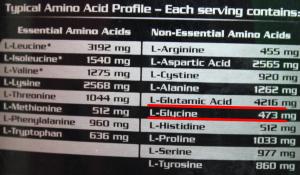 perfil de aminoacidos