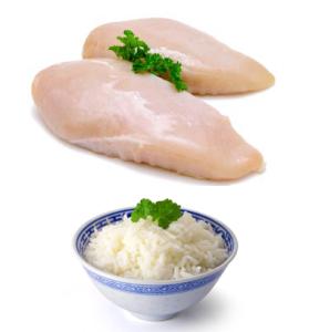 pechuga de pollo con arroz proteína cara