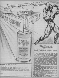 El primer suplemento de proteína en polvo Bob Hoffman