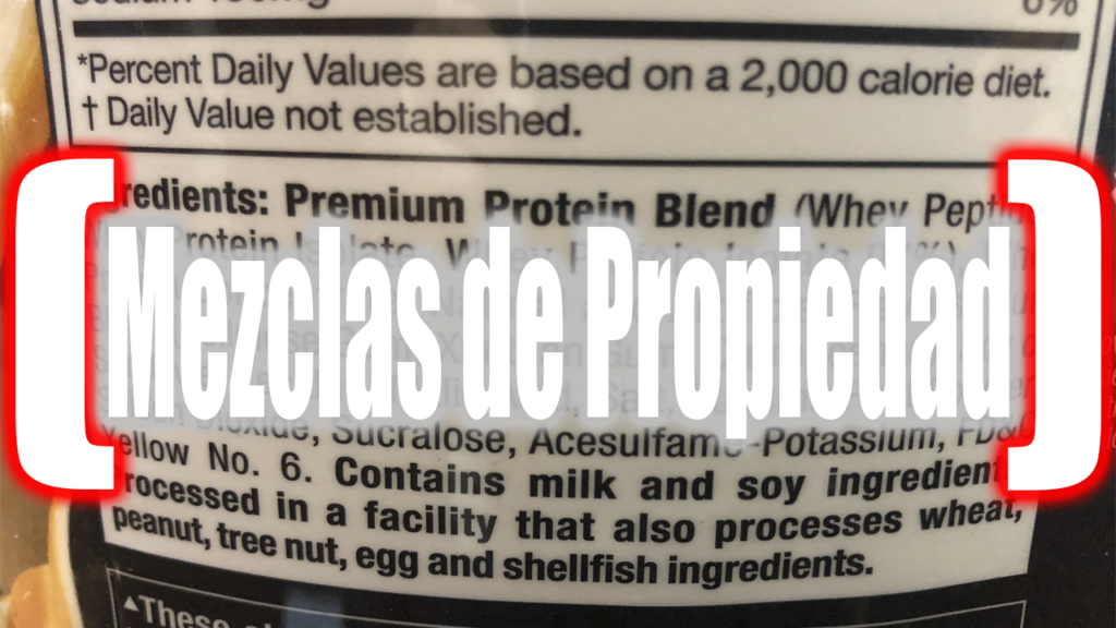 Proteina Sin Mezclas de propiedad