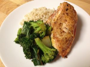 pollo arroz y broccoli