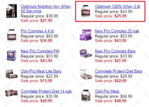 optimum nutrition whey precio