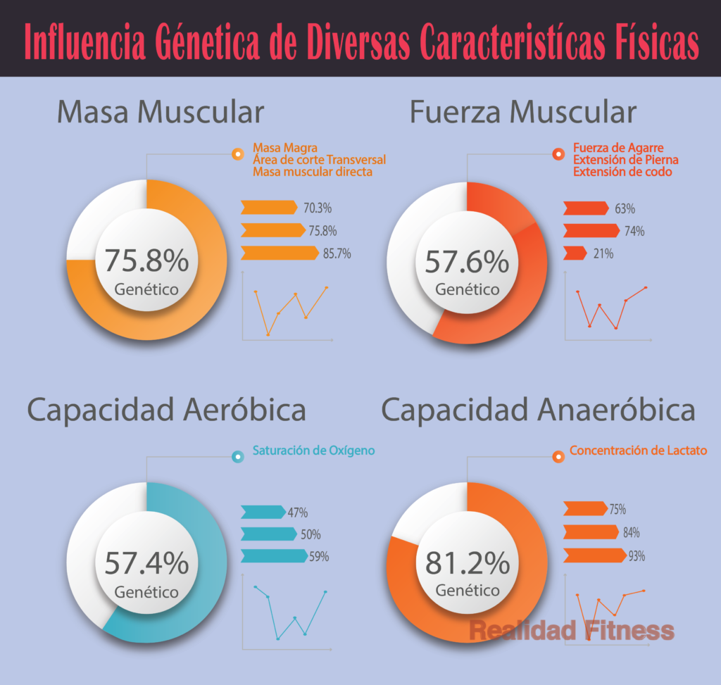 La genética de diversos factores