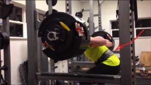 cinturón lumbar de entrenamiento