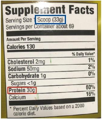 buena cantidad de proteína por servicio