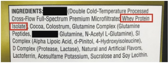 ingredientes premium en la proteina
