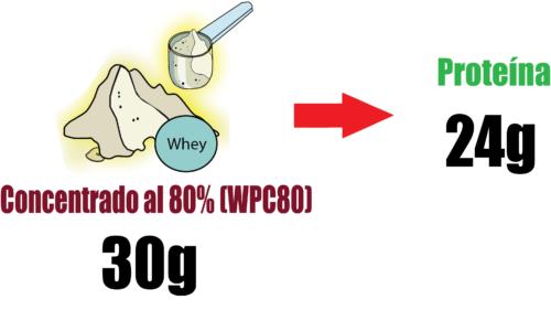 Proteína concentrada de suero 30g