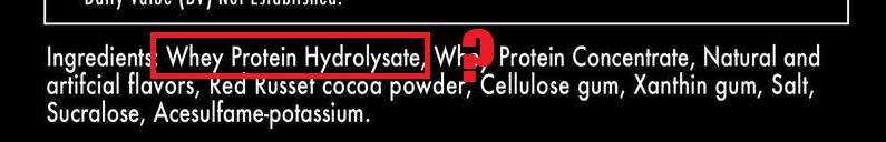 ingrediente whey hidrolizado