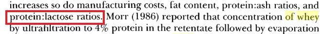 relacion proteina azucar