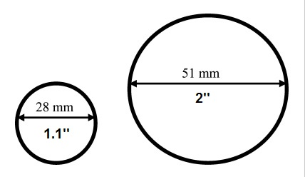 diametro de las barras de pesas