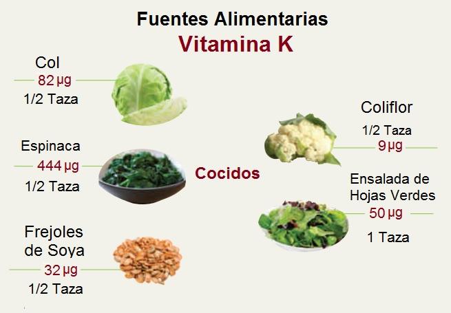 Alimentos Fuentes de Vitamina K