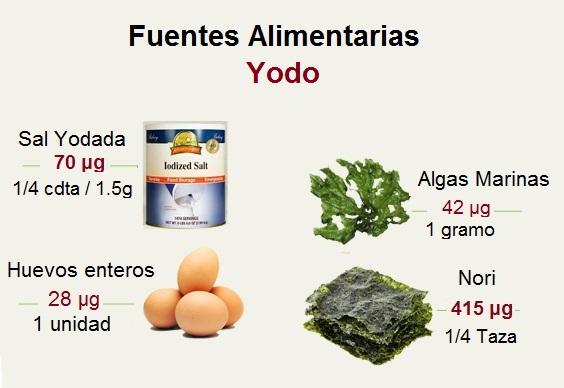 Alimentos Fuentes de Yodo
