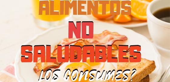 ALIMENTOS NO SALUDABLES