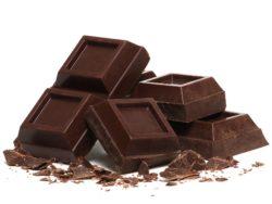 chocolate negro alto en calorias