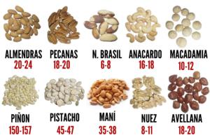 frutos secos porcion diaria