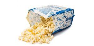 pop corn altas calorias