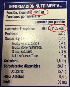 densidad calorica calculo