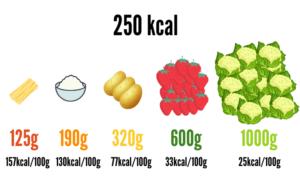 densidad calorica de los alimentos