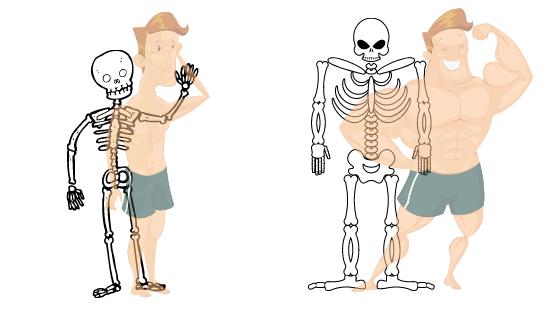 cuerpo mesomorfo estructura